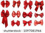 set of red realistic beautiful... | Shutterstock .eps vector #1097081966