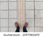 people standing on the stone... | Shutterstock . vector #1097082695