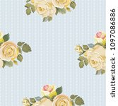 seamless floral pattern with... | Shutterstock .eps vector #1097086886