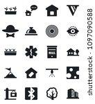 set of vector isolated black... | Shutterstock .eps vector #1097090588