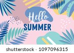 hello summer  banner design... | Shutterstock .eps vector #1097096315