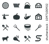 black vector icon set field... | Shutterstock .eps vector #1097100932