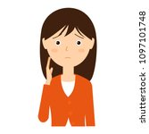 illustration of a young woman...   Shutterstock .eps vector #1097101748