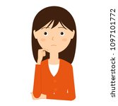 illustration of a young woman...   Shutterstock .eps vector #1097101772
