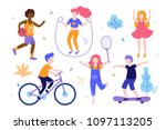 children activities. set of... | Shutterstock .eps vector #1097113205