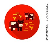 cow on a pasture icon.... | Shutterstock .eps vector #1097118662