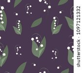 may lily flower vector seamless ... | Shutterstock .eps vector #1097121332