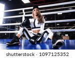 young athlete woman in boxing... | Shutterstock . vector #1097125352