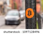 Bitcoin Sticker On A Street...