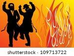 jewish holiday lag b'omer | Shutterstock .eps vector #109713722