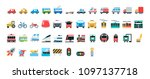 vector transport color icon set | Shutterstock .eps vector #1097137718