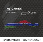 the gambia map with flag inside ... | Shutterstock .eps vector #1097140052