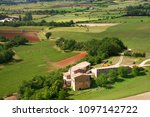 landscape in the provence ... | Shutterstock . vector #1097142722