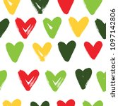 seamless pattern with hearts....   Shutterstock .eps vector #1097142806