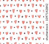 vector seamless retro pattern ...   Shutterstock .eps vector #1097142842
