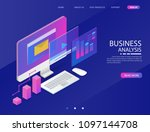 business analysis system ...   Shutterstock .eps vector #1097144708