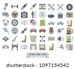 automotive parts  service and... | Shutterstock .eps vector #1097154542