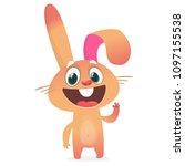 cartoon rabbit character.... | Shutterstock .eps vector #1097155538