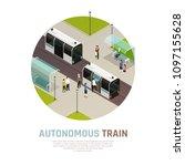 smart city with autonomous... | Shutterstock .eps vector #1097155628