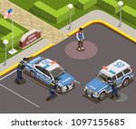 high school isometric people... | Shutterstock .eps vector #1097155685