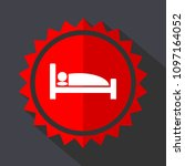 hotel red vector sticker flat... | Shutterstock .eps vector #1097164052