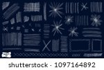 doodles set. scribble... | Shutterstock .eps vector #1097164892