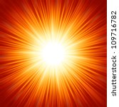 star burst red and yellow fire. ... | Shutterstock .eps vector #109716782