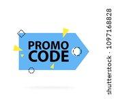 promo code  coupon code. flat... | Shutterstock .eps vector #1097168828