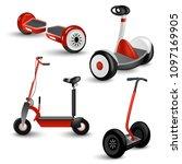realistic self balancing gyro... | Shutterstock .eps vector #1097169905