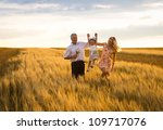 mother  daughter and grandpa... | Shutterstock . vector #109717076