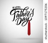 happy father s day handwritten...   Shutterstock .eps vector #1097175206