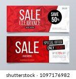 sale and discount vector... | Shutterstock .eps vector #1097176982