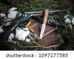 still life with a knife and two ... | Shutterstock . vector #1097177585