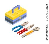 toolbox  wrench  pliers....   Shutterstock .eps vector #1097182025