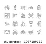 set of vacation outline icons... | Shutterstock .eps vector #1097189132