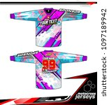 long sleeve motocross jerseys t ... | Shutterstock .eps vector #1097189942