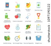 healthy lifestyle icons | Shutterstock .eps vector #1097190122