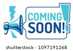coming soon   sign with...   Shutterstock .eps vector #1097191268