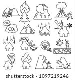 natural disaster icon set ... | Shutterstock .eps vector #1097219246