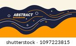 bright poster with dynamic... | Shutterstock .eps vector #1097223815
