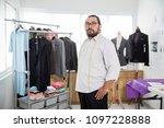 portrait of proud tailor in his ... | Shutterstock . vector #1097228888