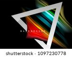 liquid fluid colors holographic ... | Shutterstock .eps vector #1097230778