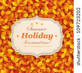 vintage card on autumn leaves... | Shutterstock .eps vector #109723202