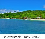 exotic paradise island beach... | Shutterstock . vector #1097234822