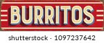 vintage style vector metal sign ...   Shutterstock .eps vector #1097237642