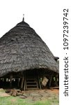 Small photo of Flores, Indonesia - January 1, 2017: Traditional Conical Hut in Wae Rebo Village