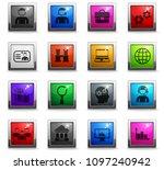 management vector icons in... | Shutterstock .eps vector #1097240942