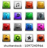 social media vector icons in... | Shutterstock .eps vector #1097240966
