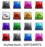 shop vector icons in square... | Shutterstock .eps vector #1097240972