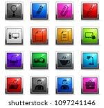 office vector icons in square... | Shutterstock .eps vector #1097241146